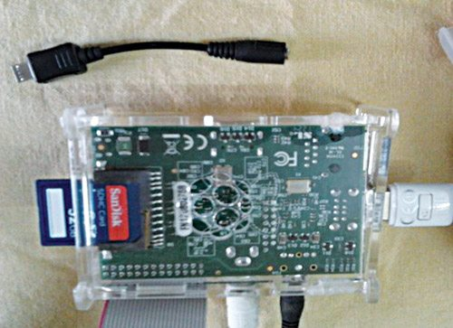 Fig. 6: Peripherals connected to the Raspberry Pi board