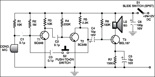 Low-cost intercom circuit