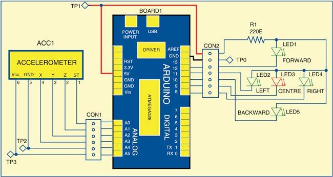 Circuit of tilt detector