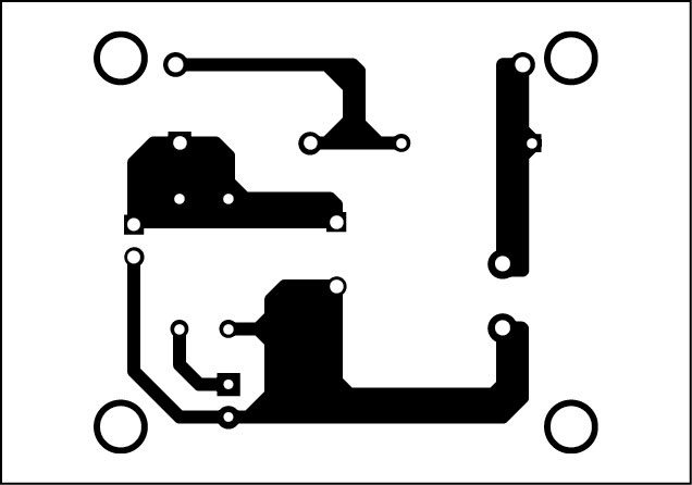 Fig. 2: Actual-size, single-side PCB of the indicator