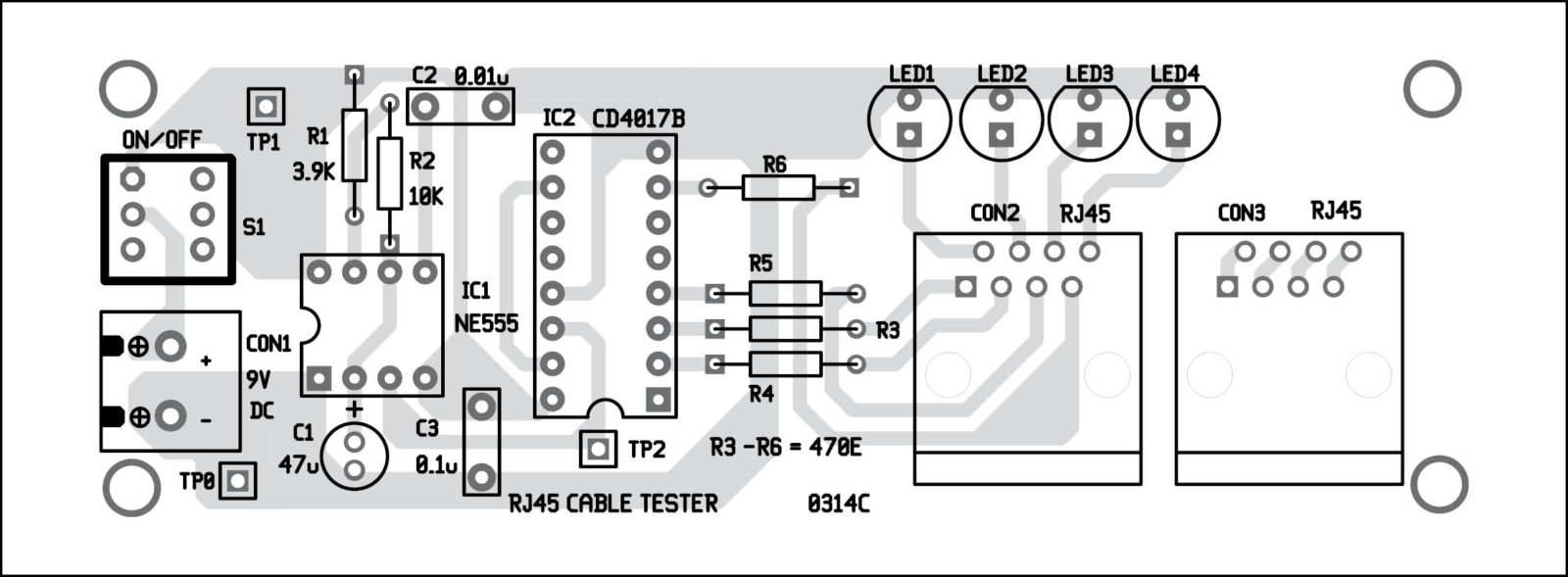 Diy Cable Tester Collection Schematic