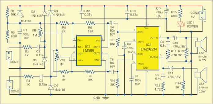 dual audio signal tracer circuit