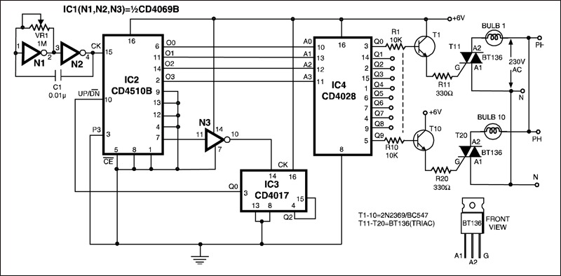 Automatic Dual Output Display Circuit