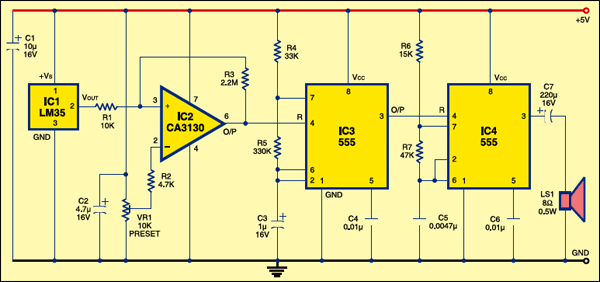 PC Temperature Alarm Circuit