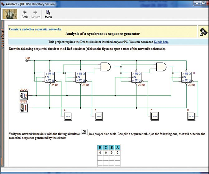 Fig. 1: Assistant browser is opened, showing a page with a problem assignment