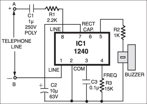 Fig2.Circuit diagram of external ringer