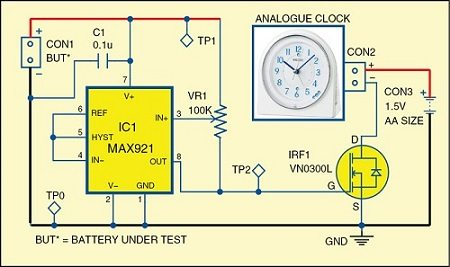 Battery Discharge Measurement Circuit