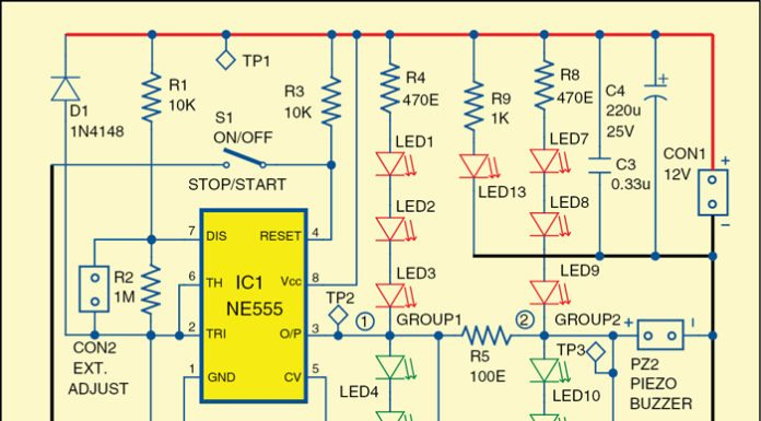 The versatile audio-visual alarm circuit