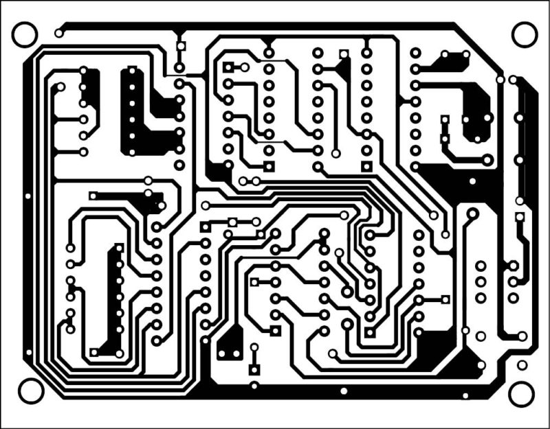 A single-side PCB for the medicine-time reminder