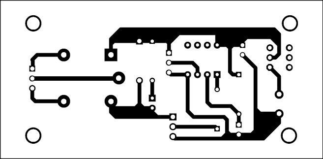 Fig. 2: Actual-size PCB of the over-heat detector