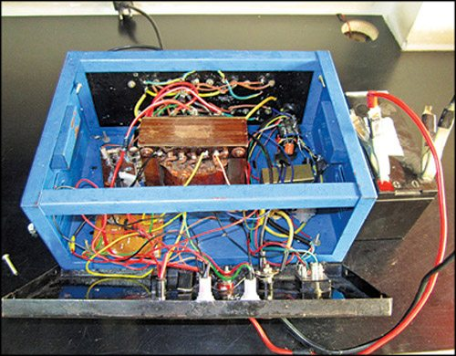 Fig. 7: The final assemblage enclosed in a cabinet (internal wiring)