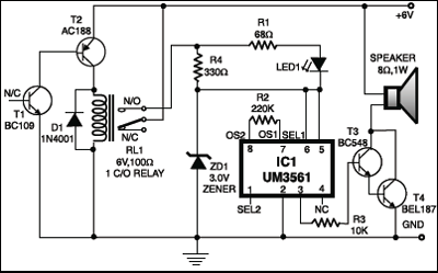 Automatic Heat Detector Circuit