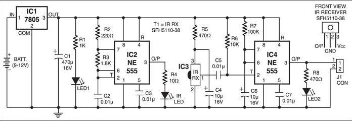 Infrared Proximity Detector Circuit