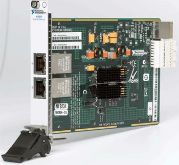 NI dual gigabit Ethernet interface