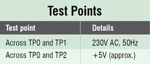 Test Points Remote Control Tester