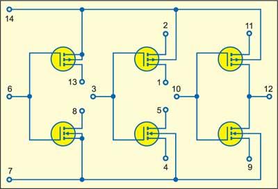 Fig. 2: Internal diagram of CD4007