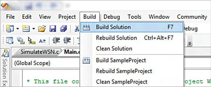 Fig. 3: Building solution in Visual Studio