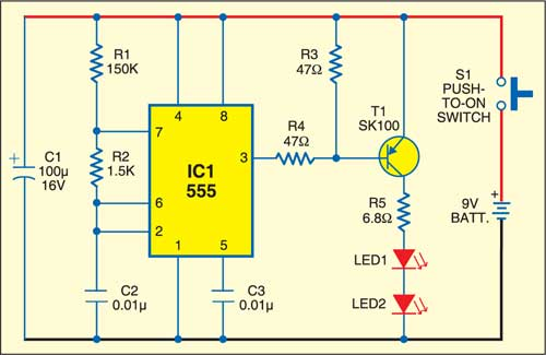 Optical remote switch: Transmitter circuit