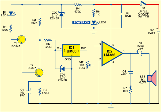 Infrared Bug Circuit