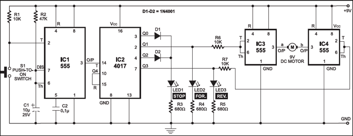 Circuit of the DC Motor Control Using Single Switch