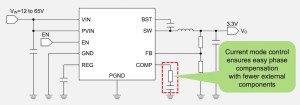BD51180TL easy phase compensation with current mode control