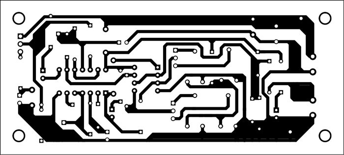 Fig. 2: Actual-size PCB layout for the monitor circuit