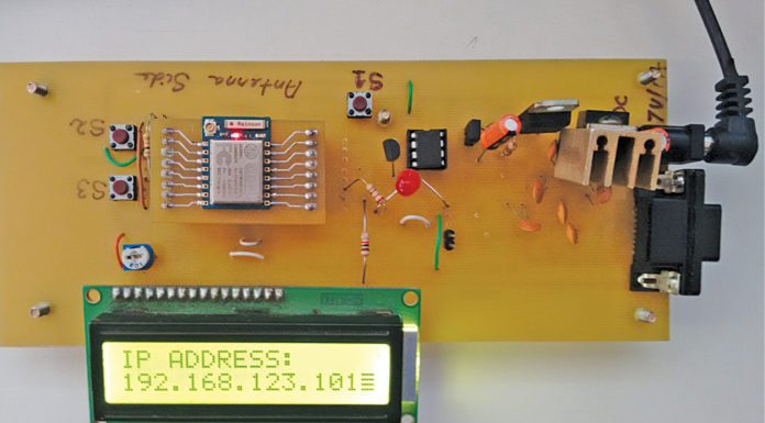 Fig. 1 Author's prototype of the esp8266 based wireless web server