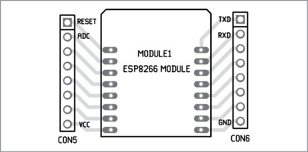 Fig. 11 Component layout of the child board