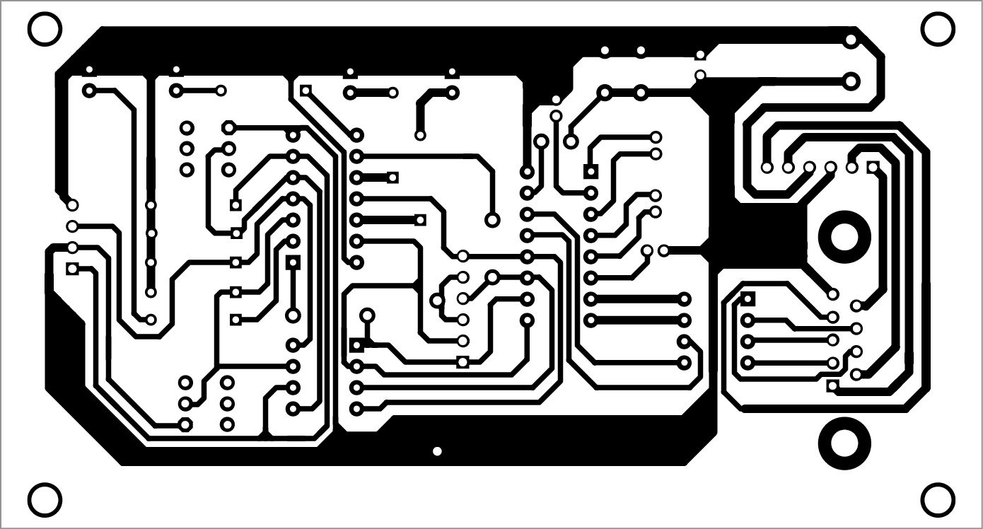 Fig. 2 Actual-size PCB pattern of configurable RS232 to TTL to I2C adaptor