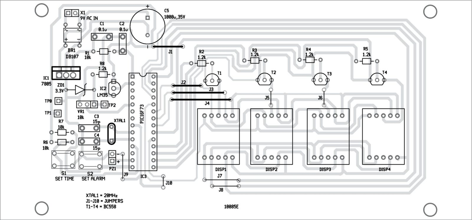 Fig. 3 Component layout of the PCB