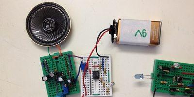 IR Transmitter/Receiver & Music Generator circuit