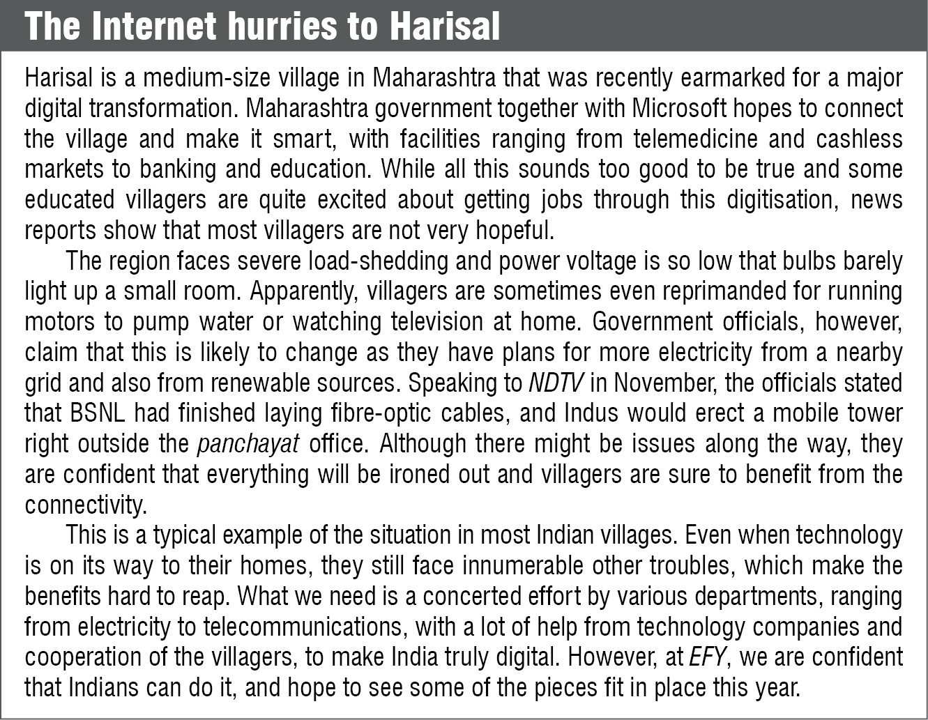 The Internet hurries to Harisal
