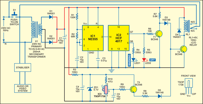 Remote Controlled Power-Off Switch Circuit