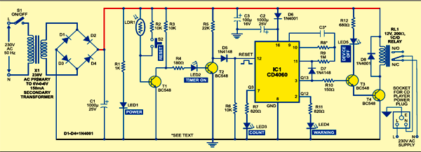 Automatic off timer circuit