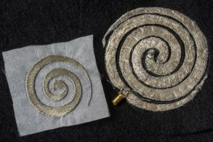 Spiral Antenna for Wearable Electronics