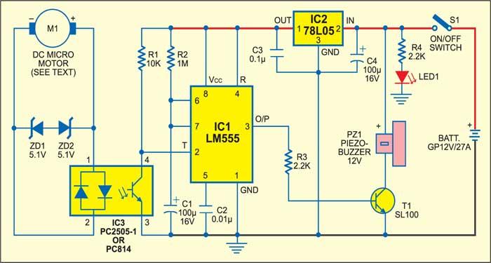 Anti-theft device circuit