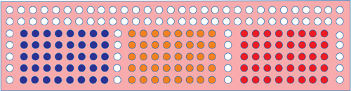 Fig. 2: Arrangement of LEDs