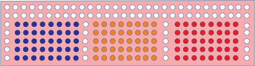 Fig. 2: Arrangement of LEDs