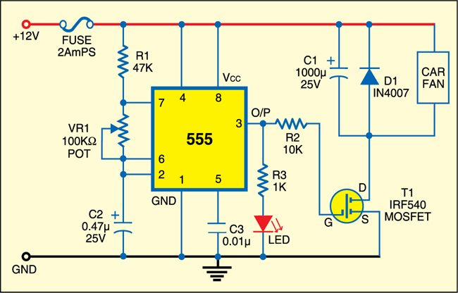 Fan speed controller circuit