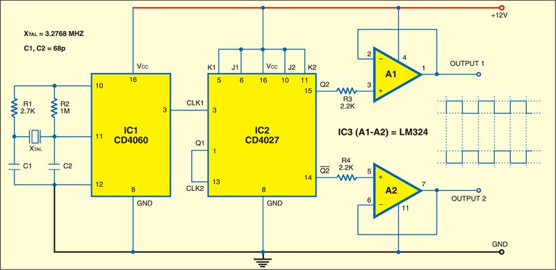 Crystal Based 50Hz Generator Circuit