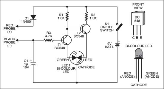 Circuit diagram for Multitester