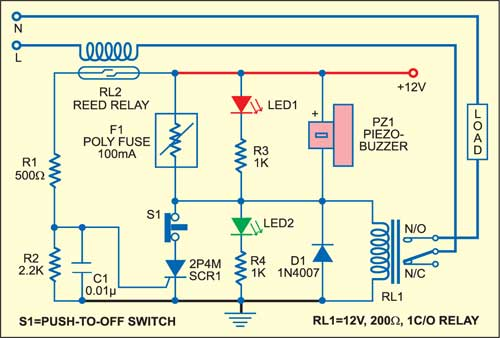 electronic fuse circuit | detailed circuit diagram available  electronics for you