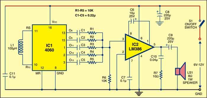 circuit of the multitone siren