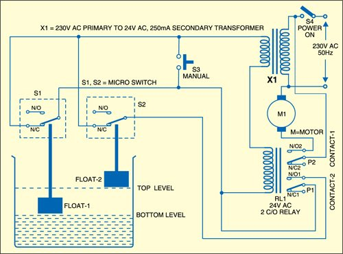 Water Pump Controller Circuit | Full Project Details AvailableElectronics For You