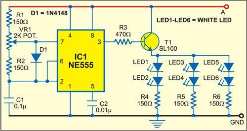 White LED Based Emergency Lamp and Turning Indicator