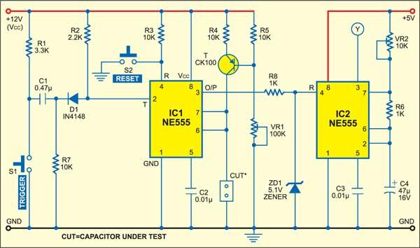 Fig. 1: Capacitor evaluator circuit