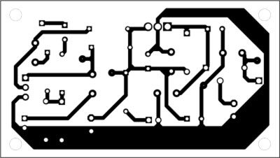 Fig. 2: Actual-size, single-side PCB for the antenna preamplifier