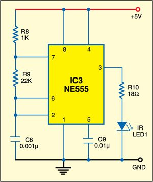 IR based light control: Transmitter circuit