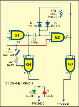Circuit of versatile probe