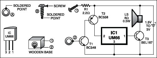 musical call bell circuit